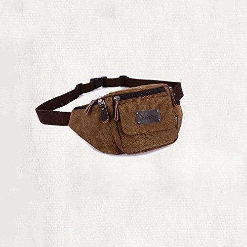 ZHANGRONG- Outdoor laufender Handy persönlich Taschen Sport-Leinwand Multifunktions-Paket Herren Freizeit Brust Tasche Kuriertasche (Farbe optional) 4