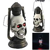 0896daae976565 Altsommer Halloween Totenkopf Muster Lampion LED Lampe 24 * 15cm mit  Leuchtende Augen, Hängeleuchten, Halloween Dekoration Requisiten,bei Nacht  Familie ...