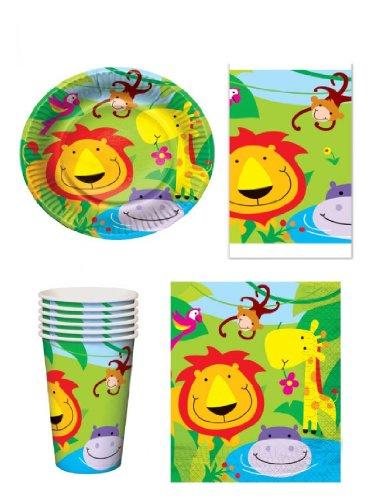 Set de fiesta para 16 comensales infantiles con diseño de animales de...