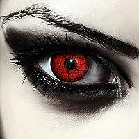 """Lentillas de color rojo para Halloween monstruo lentillas sin dioprtías / corregir + gratis caso de lente """"Red Monster"""""""
