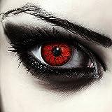 Rosse mostro lenti a contatto colorate rosso, morbide, non corrette modello: 'Red Monster'