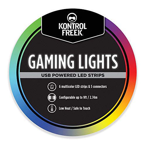 KontrolFreek Gaming Lights: LED Strip Lights, 9 FT USB Powered with Controller,...