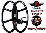 DETECH 12×10Ω S.E.F. Butterfly-Suchspule für Fisher F11, F22, F44 Metalldetektoren mit Spulenabdeckungsschutz im Lieferumfang enthalten