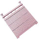 Alextry - Scaffale Estensibile per Armadio di Supporto fissato al Muro di mensola di stoccaggio Regolabile per Guardaroba, Cachi, 29-46cm