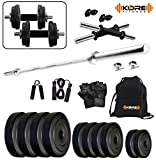 #4: KORE 20KGCOMBO9 Home gym & Fitness Kit