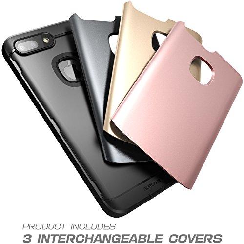 iPhone 8 Plus Hülle, SUPCASE Water-Resistant Hülle Ganzkörper Schutzhülle Rugged Handyhülle mit eingebautem Displayschutz (3 Austauschbar Back Cover) Kompatibel mit Apple iPhone 7 Plus / iPhone 8 Plus 3