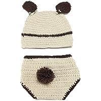 Bear, Newborn Baby Girl Boy Crochet Knit Costume Photo Photography Prop Hats Outfits (Bear)