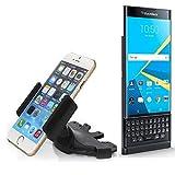 CD Schlitz Smartphonehalterung für Blackberry Priv | Universell verwendbare Autohalterung für Navigationsgeräte / Smartphones zur Montage am CD-Schlitz des Autoradios. Die 360° Halterung ist frei verstellbar. Der Greifer ist für alle Handys bis 90mm Breite geeignet. CD-Schlitz KFZ-Halter, KFZ Auto CD Schlitz Halterung, Made for Smartphone, Handy, Navi / GPS