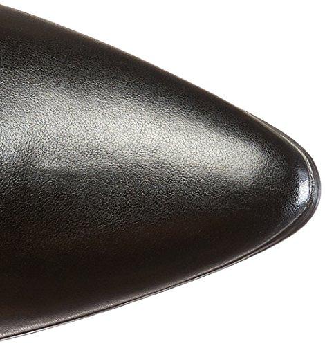 Bezerro Altura Funtasma De alta preto calcanhar Cm 7 123 Creme 2 Gatinho Senhoras cor Botas Victorian Pu xqwpIgqR