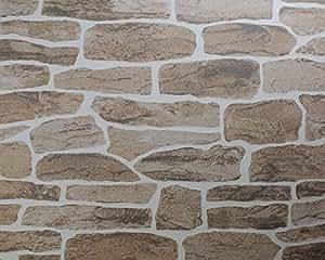 Tapete marburg suprofil deco 50814 steine mauer for Steine baumarkt