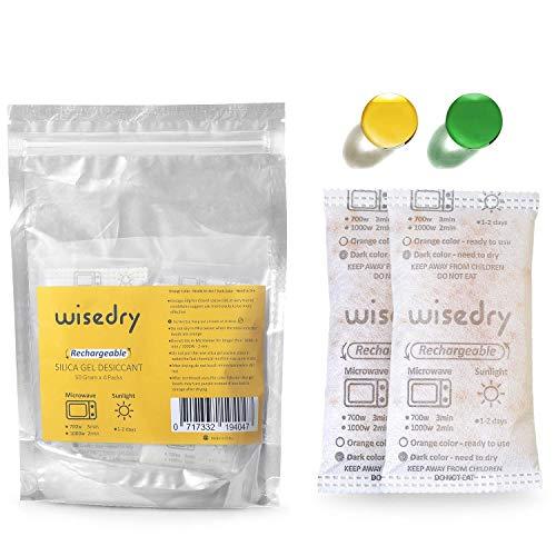 Wisedry 50 Gramos[4 Paquetes] Gel De Sílice