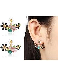 Shining Diva Fashion Gold Plated Women Fashion Earrings - Studs   (Multi-Colour)  (8844er)