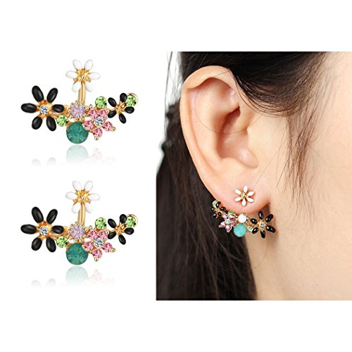 Shining Diva Gold Plated Studs for Women (Multi-Color) (8844er)