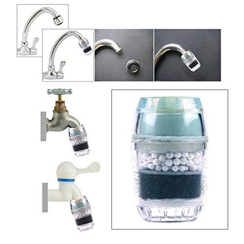 Küche Aktivkohle Wasserfilter Wasserhahn Wasserhahn Haushalt Wasser Luftreiniger entfernen Rost Sediment Filterung Free Size grün -