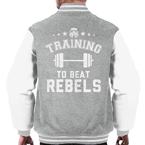 Original Stormtrooper Training to Beat Rebels Men's Varsity Jacket