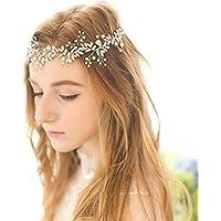 Shelley commerce Handmade perle di cristallo STRASS fascia stile retrò da  sposa fascia da sposa accessori 4e0a395db1b1