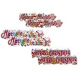 Jaipuri Haat Christmas Stickers/Christmas Decoration/Christmas Banner/christmas Bunting Set Of 6
