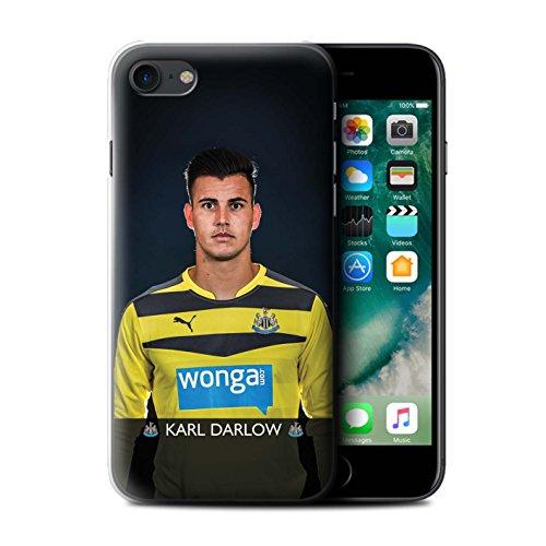 Officiel Newcastle United FC Coque / Etui pour Apple iPhone 7 / Townsend Design / NUFC Joueur Football 15/16 Collection Darlow