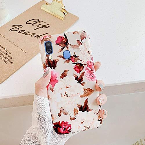 Herbests Kompatibel mit Huawei P30 Lite Hülle Silikon TPU Handyhülle Mode Blätter Blume Muster TPU Silikon Case Cover Tasche Schutzhülle Kristall Ultra Dünn Stoßfest Hülle,Rose Blumen