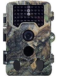 Lenpaby Wildlife Trail Camera Piège à 16MP 1080p 120° Capteur PIR HD Cam infrarouge avec vision de nuit 19,8m Caméra de Scoutisme infrarouge avec vision de nuit 46pcs LED IR, grand angle, détecteur de mouvement, écran LCD 6,1cm, pour extérieur, jardin, DE Nature, Surveillance de sécurité à domicile