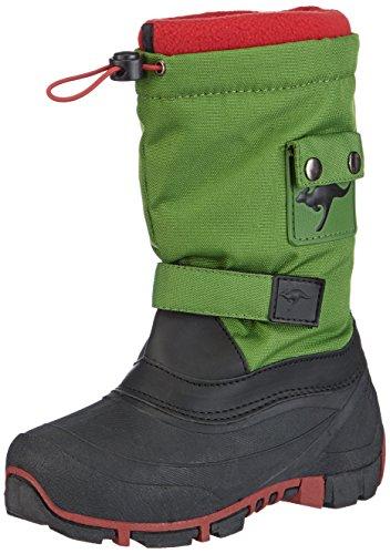 KangaROOS Kanga-Bean 2007, Stivali da neve Unisex - bambino, Verde (Grün (green/red 806)), 37 (4 uk)