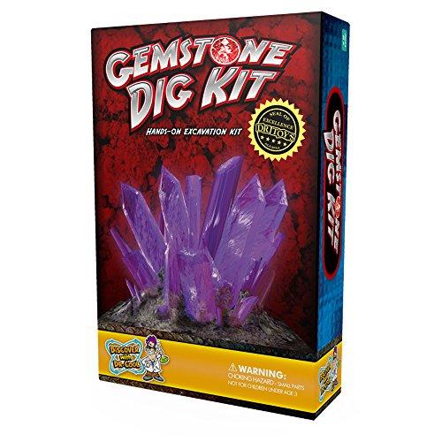 Kit de excavación de gemas - Descubre 3 gemas reales