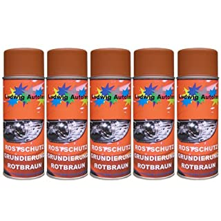 5 Spray Rostschutz rotbraun 400 m je Spraydose