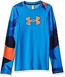 Under Armour HG Novelty, T-shirt à manches longues Garçon, Bleu, XS