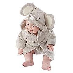 Idea Regalo - Pawaca, morbido asciugamano da bagno da bambino con personaggio, accappatoio per avvolgere il bambino, per neonati maschi e femmine