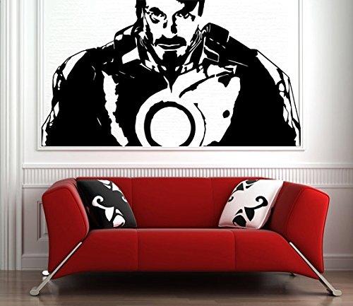 y Stark Film Iron Man / Roboter Anzug - Entfernbarer Sticker (100x56 cm) (Schwarz Iron Man Anzug)