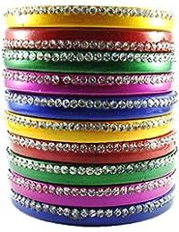 Sukriti Trendy Rajasthani Multicolor Lac Bangles for Women, Girls - Set of 10