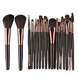 CYD Cyond 18 Stück Makeup Pinsel Set Werkzeuge Make-up Kultur Set Wolle MakeUp Pinsel Set (Schwarz)