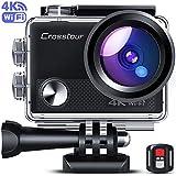 Crosstour Caméra Sport 4K Wi-FI 16MP Ultra HD étanche 40M Action Camera Télécommande avec 2 Piles et Un kit d'accessoires Complet