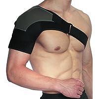 Apoyo de Hombro de -CMXING Protector para Hombro Seguridad Soporte elástico para hombro se adapta a la izquierda o derecho,para Mujer y Hombre (Grande)