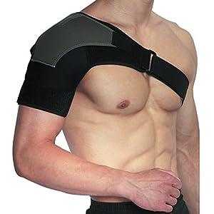 Cmxing Verstellbare Schulterbandage für linke und rechte Schulter Neopren Schulterschutz Schultergurt