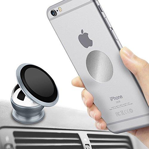 Preisvergleich Produktbild Magnet Handyhalterung, tronisky Auto Halterung Universal KFZ Halter 360 Grad Drehung für iPhone 8/iPhone 7, Samsung Galaxy S8/S7,Galaxy Note 8/Note 7 und Jedes Andere Smartphone Oder GPS Gerät, Grau