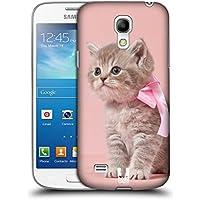 Head Case Designs Kätzchen Mit Rosa Fliege Katzen Ruckseite Hülle für Samsung Galaxy S4 mini I9190
