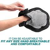 Poppypet Fellpflegehandschuh Bürste für Hunde, Fellpflege Hundebürste mit Gummi Noppen,Shampoo Bürste Massagehandschuh, Entfernt lose Haare, massiert Ihren Hund - 5