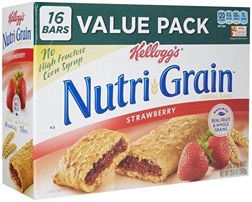Nutri-grain Cereal Bars (Nutri-Grain Cereal Bars, Strawberry, Indv Wrapped 1.3oz Bar, 16 Bars/Box, Sold as 1 Box)
