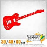 KIWISTAR - E-Gitarre - Rock - Heavy Metal Heckscheibe in 15 FARBEN Aufkleber Sticker
