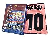 Kit Camiseta y Pantalon Tercera Equipación 2018-2019 FC. Barcelona - Réplica Oficial Licenciado - Dorsal 10 Messi (10 años)