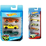 #2: Mattel Hot Wheels (3 pack) Design may vary + Hot Wheels Five Car Gift Pack Assortment Colors and Designs Might Vary