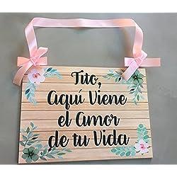 Cartel para Boda Personalizable Tito Aqui viene la novia