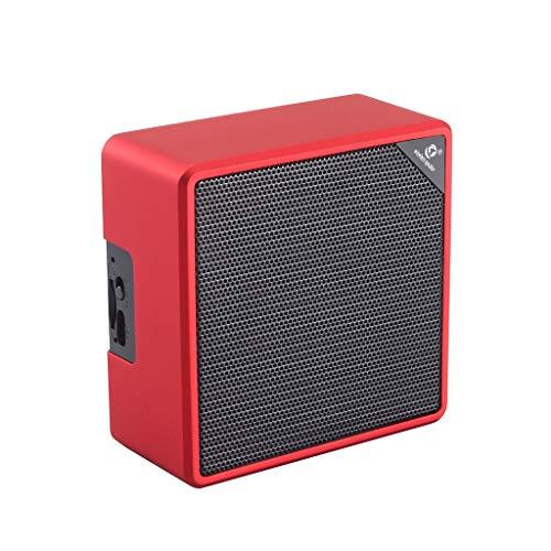Enceintes Portables Bluetooth,AIni Haut-Parleur Bluetooth HIFI Sans Fil Portable Superbe Son HD Et Basse StéRéO En Plein Air-Basses Puissantes Musique(Taille Libre,Rouge)