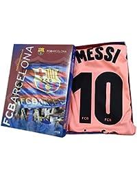 Kit Camiseta y Pantalon Tercera Equipación 2018-2019 FC. Barcelona -  Réplica Oficial Licenciado - Dorsal 10 Messi… 21c6cb0724a