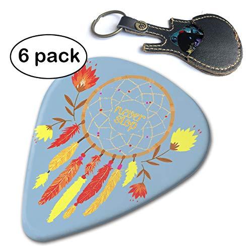 Dream Catcher 351 - Juego de púas para guitarra (6 unidades), diseño de guitarra