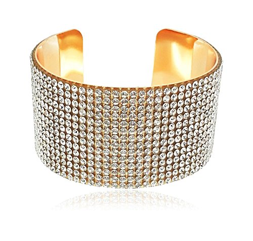 Shining Diva Fashion Gold Crystal Kada Bangle Bracelet for Girls and Women
