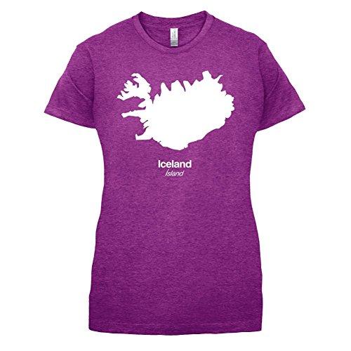 Iceland / Island Silhouette - Damen T-Shirt - 14 Farben Beere