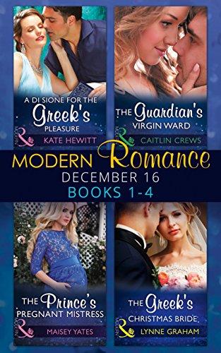 book cover of Modern Romance December 2016 Books 1-4