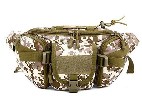 Zll/Outdoor ESTERNI tasca esercito uomini e donne Lost tattico tasche sul petto impermeabile borsa da viaggio e tempo libero equitazione borsa sportiva Uomo, nero Deserto